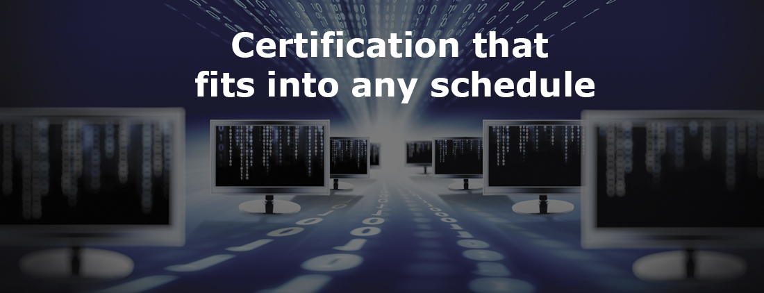 certification that fits into any schedule image